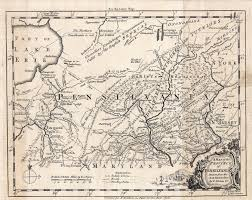 13 Colonies Map Blank by 1755 To 1759 Pennsylvania Maps
