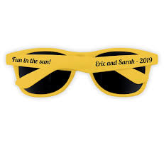 sunglasses wedding favors personalized yellow sunglass wedding favors wedding sunglasses