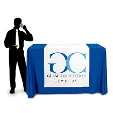 trade show table runner 42 wide table runner with logo