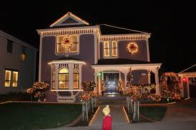 Christmas Decorated Home by Showy House Outside Ideas Decorations In House Outside Decorations
