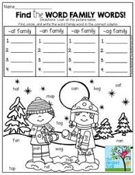 word family houses made with chart paper brainstorm a list for a
