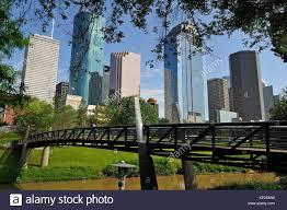Buffalo Bayou Park Map Hobby Center Pedestrian Bridge In The Buffalo Bayou Park Houston
