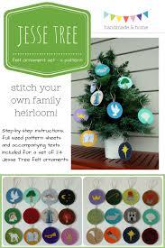 tree felt ornament set pattern available now handmade home