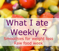 what i ate weekly 7 smoothies for weight loss case study