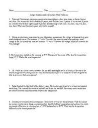 printables free integer word problems worksheet ronleyba