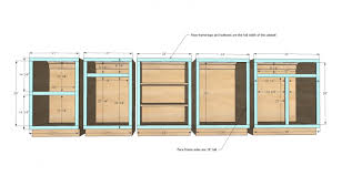 build your own kitchen ana white face frame base kitchen cabinet carcass u2013 diy projects