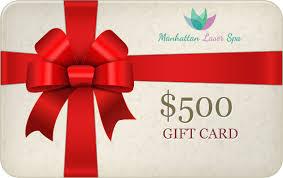 500 gift card 500 gift card manhattan laser spa