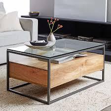 west elm wood coffee table west elm industrial storage coffee table best gallery of tables