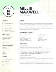 modern resume exles interior designer resume creative interior design resume templates