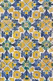 Tile Wallpaper Yellow Flower Pattern Tile Wallpaper Www Artisticwallmurals