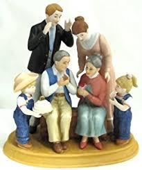 home interior porcelain figurines amazon com home interiors denim days 50th anniversary porcelain