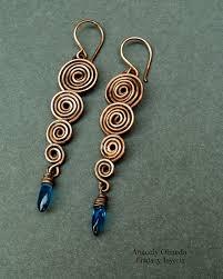 wire earrings spiral wire work earrings tutorial the beading gem s journal