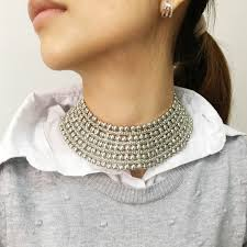 neck collar necklace images Buy manilai chunky metal statement necklace for jpg