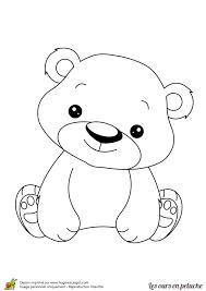 Coloriage ours en peluche mignon sur Hugolescargotcom