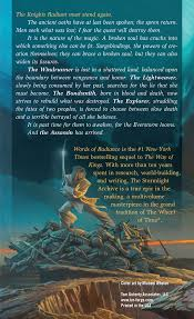 Storm Light Archive Words Of Radiance Book Two Of The Stormlight Archive Brandon
