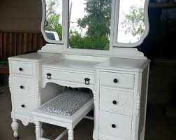vintage vanity table with mirror and bench dressing bench etsy