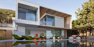 villa design elegant modern architecture villas with large pool can add the