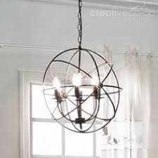 Creative Co Op Chandelier Metal Wire Checkered Drum Shape Chandelier Creative Co Op Home