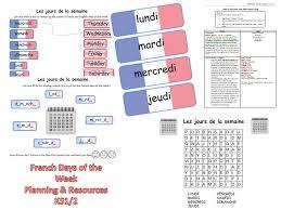 days of the week u0026 seasons in french worksheets games activities