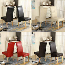 High Back Brown Leather Dining Chairs Brown Leather Dining Chairs Ebay