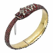 garnet bangle bracelet images Red garnets january 39 s birthstone in antique jewellery the jpg