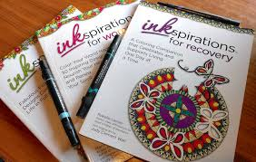 coloring book designed inspire recovery