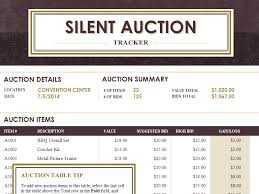 silent auction bid sheet template 10 free samples examples