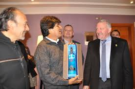 evo morales president morales makes irish brand official drink of bolivian palace