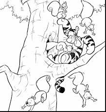 unbelievable winnie the pooh and tigger coloring page with tigger