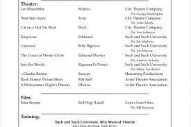 musical theater resume template fun music resume template 7
