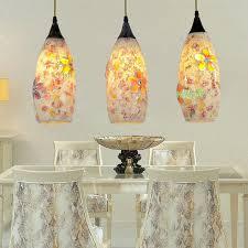 Flower Pendant Light Outstanding Sea Glass Pendant Lights Chandelier Coastal Decor
