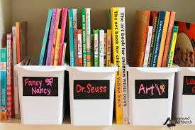 how to organize books for kids