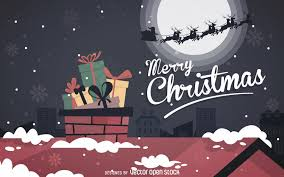 merry christmas background vector download