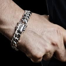 link men silver bracelet images 15mm silver cuban link bracelet jpg