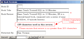 Count Characters In Access Counting Characters Used In Microsoft Access Forms Database