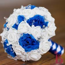 wedding flowers royal blue royal blue and white wedding bouquets wedding image idea just