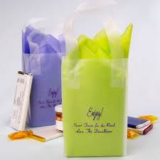personalized wedding gift bags wedding gift bags personalized 4 x 6 frosted plastic