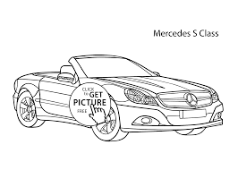 car mercedes s class coloring page cool car printable free