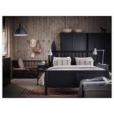 hemnes bed frame black brown luröy standard double ikea