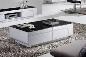 Black And White Coffee Table Assym White Gloss Coffee Table With Black Top Buy Today