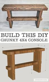 Diy Console Table Plans How To Build Your Own Diy Console Table Free Plans Plus Picture