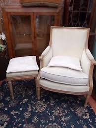 French Style Armchair French Louis Style Armchair And Matching Footstool With Cushions