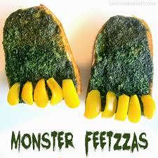 Halloween Monsters For Kids by Halloween Monster Feet Pizzas Lindsay Ann Bakes