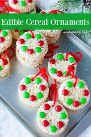 edible cereal ornaments recipe
