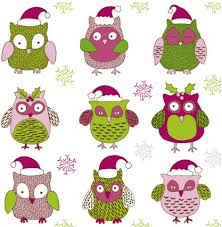 cartoon christmas owl cute vector vector animal vector cartoon
