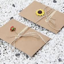 diy retro envelope kraft paper flowers handmade postcard blessings