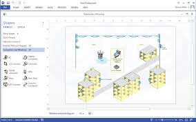 how to create a ms visio wireless network diagram using