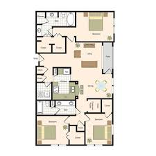 3 Bed 2 Bath Floor Plans by Floor Plans Jackson Hill Luxury Apartments Living In Houston