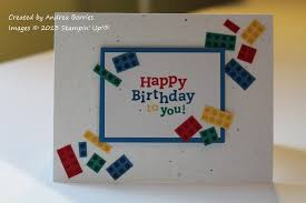 snippets lego inspired birthday card