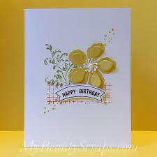 easy birthday card idea with stampin u0027 up timeless textures